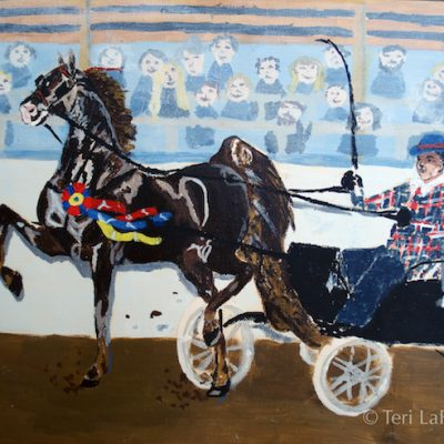 Saddlebred with cart