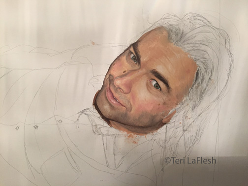 Portrait of Jon in progress